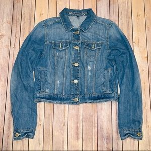 America Eagle Outfitters Womens jeans jacket Sz L
